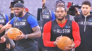 Half Court Shot Contest! LeBron James vs Kawhi Leonard, Luka Doncic, James Harden, & Anthony Davis