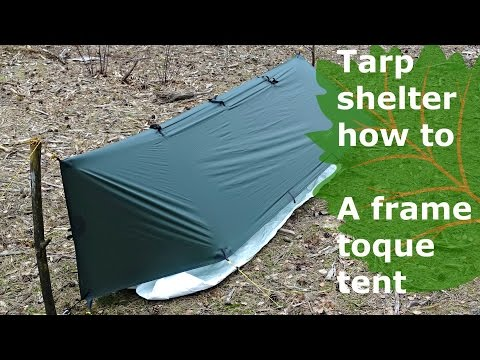 tarp shelter how to: bad weather solo pitch