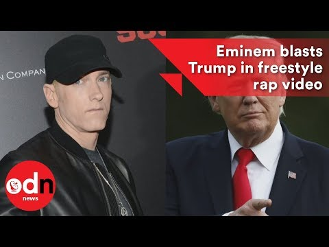 Eminem blasts Trump in freestyle rap video