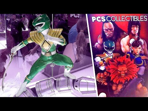2017 New York Comic Con PCS Collectibles NYCC Mortal Kombat Street Fighter 2 Power Rangers Statues