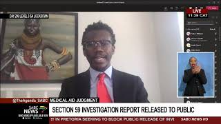 S59 Interim Report | Release of report into racial profiling of doctors by medical aids