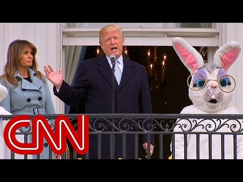 Trump touts economy, military at Easter event