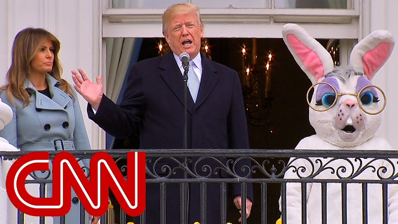 Image result for trump with easter bunny