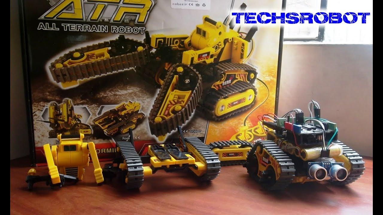Robot oruga en arduino shield puente h para