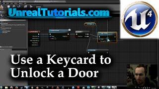UE4 Tutorial | Use Keycard to Unlock Door