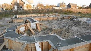 Фундамент для дома своими руками ч.11(В ролике показаны заключительные работы по заливке фундамента для дома,а так же как вывести всю его верхнюю..., 2014-10-13T23:37:29.000Z)