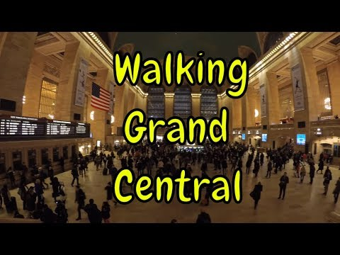 ⁴ᴷ Walking Tour Of Grand Central Terminal, NYC During A Friday Evening Rush Hour