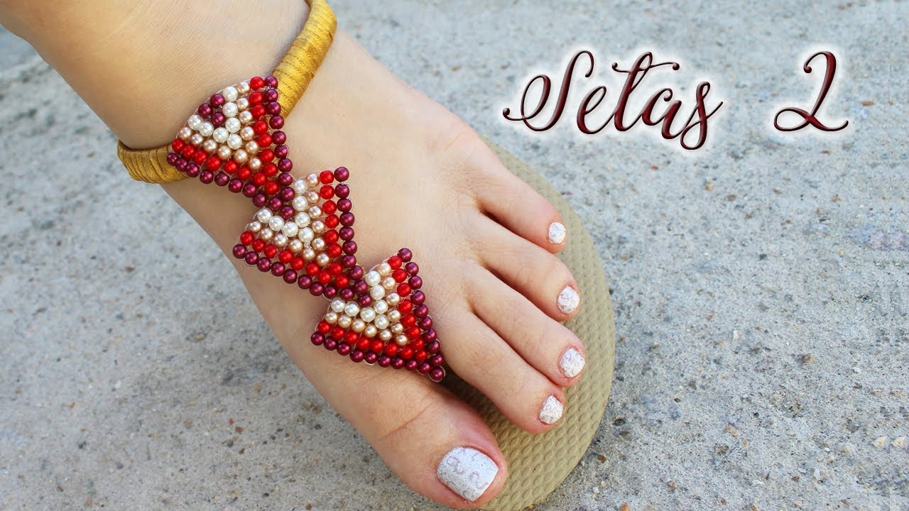 Chinelo Decorado: Manta de pérolas (Havaianas Customizadas - DIY)