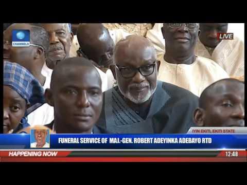 Funeral Service Of Major Gen Robert Adeyinka Adebayo Rtd Pt 9