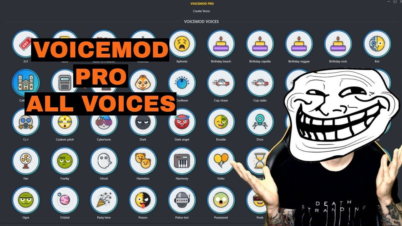 VoiceMod Pro Testing all Voices - September 2019!