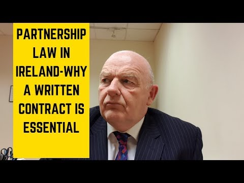 Partnership Law Ireland-Why a Written Partnership Agreement is Essential