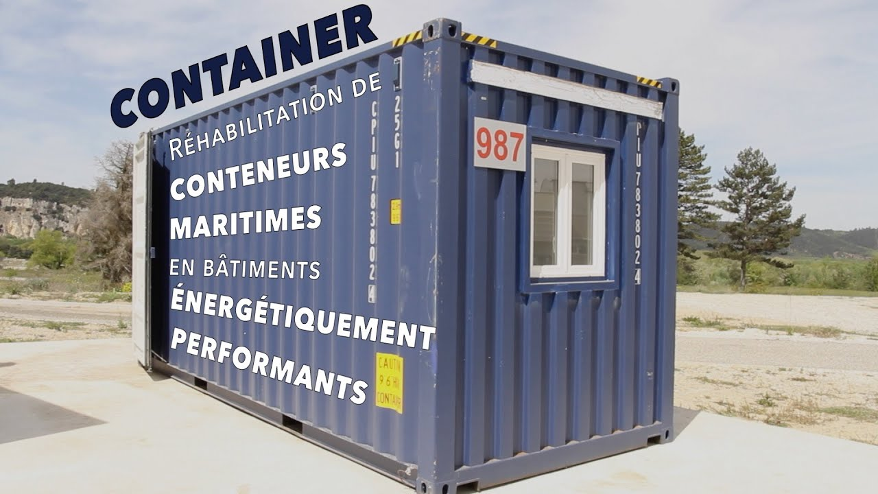 comment transformer un container en b timent nerg tiquement performant youtube. Black Bedroom Furniture Sets. Home Design Ideas