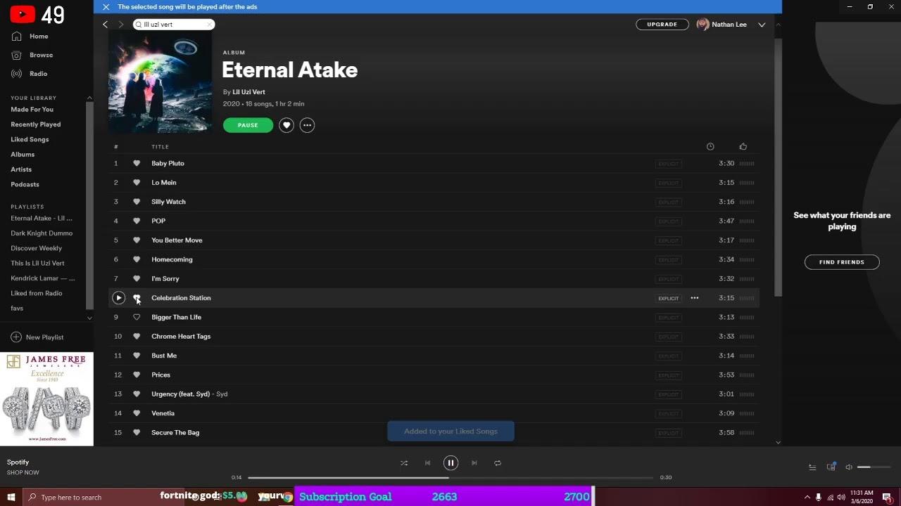 Lil Uzi Vert Releases New Album Eternal Atake: Listen