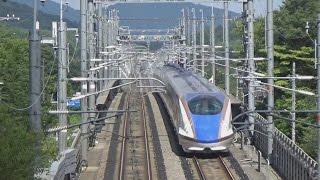 【北陸新幹線】異周波数切替セクション通過(新軽井沢SP)