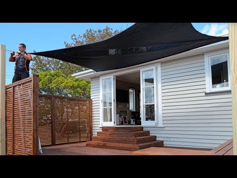How to Put Up a Shade Sail | Mitre 10 Easy As