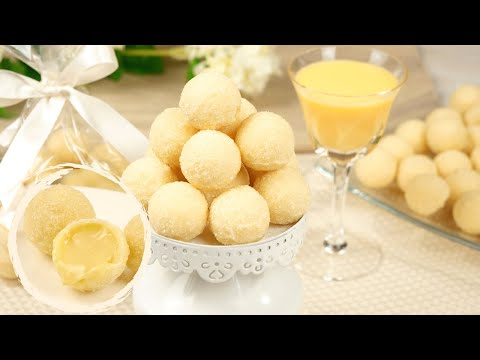 Eierlikör-Sahne Pralinen selber machen – Weisse Pralinen mit knackiger Zuckerkruste