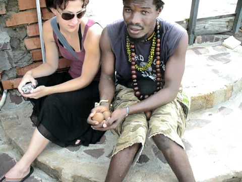 Ghana Africa - Katie learns musical ball things