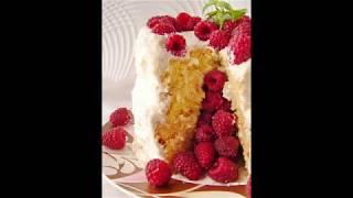Торт Сюрприз с малиной. Raspberry Cake