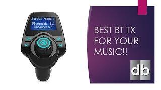 Best FM Bluetooth Transmitter For Older Cars KM19 + Mag Mount