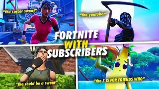 PLAYING FORTNITE ZONE WARS WITH SUBSCRIBERS!