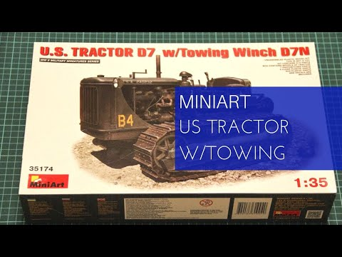 Miniart 1/35 US Tractor D7 w/Towing Winch D7N (35174)
