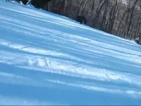 Snowboarding on Mount Wachusett