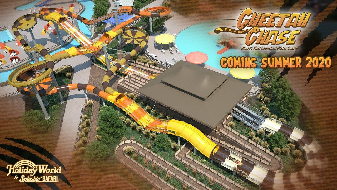 Holiday World Debuts Cheetah Chase the World's First Launched Water
