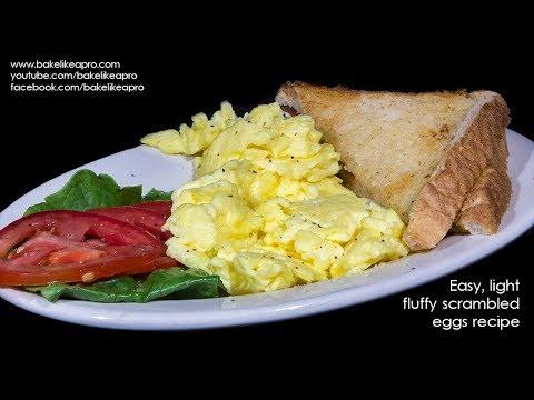 Easy Light Fluffy Scrambled Eggs Recipe