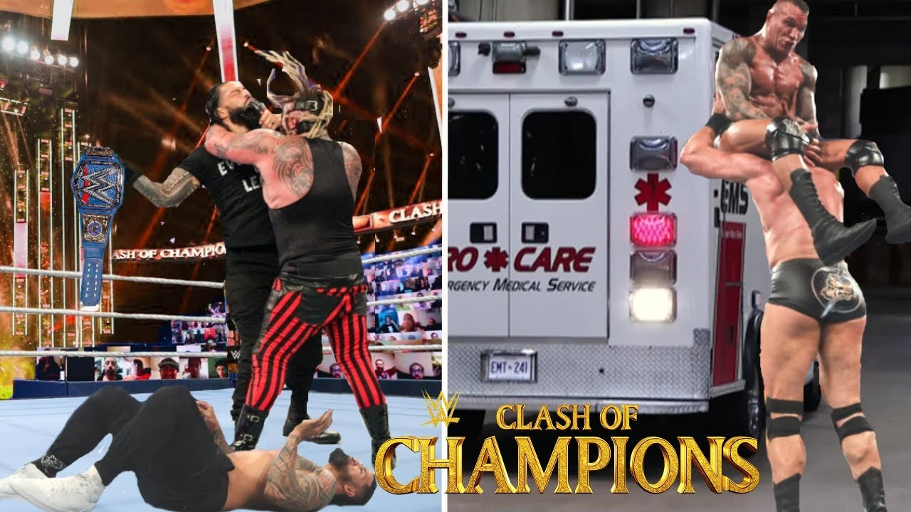 WWE Clash of Champions 20th September 2020 Highlights Preview, The Fiend Attack Roman reigns Results