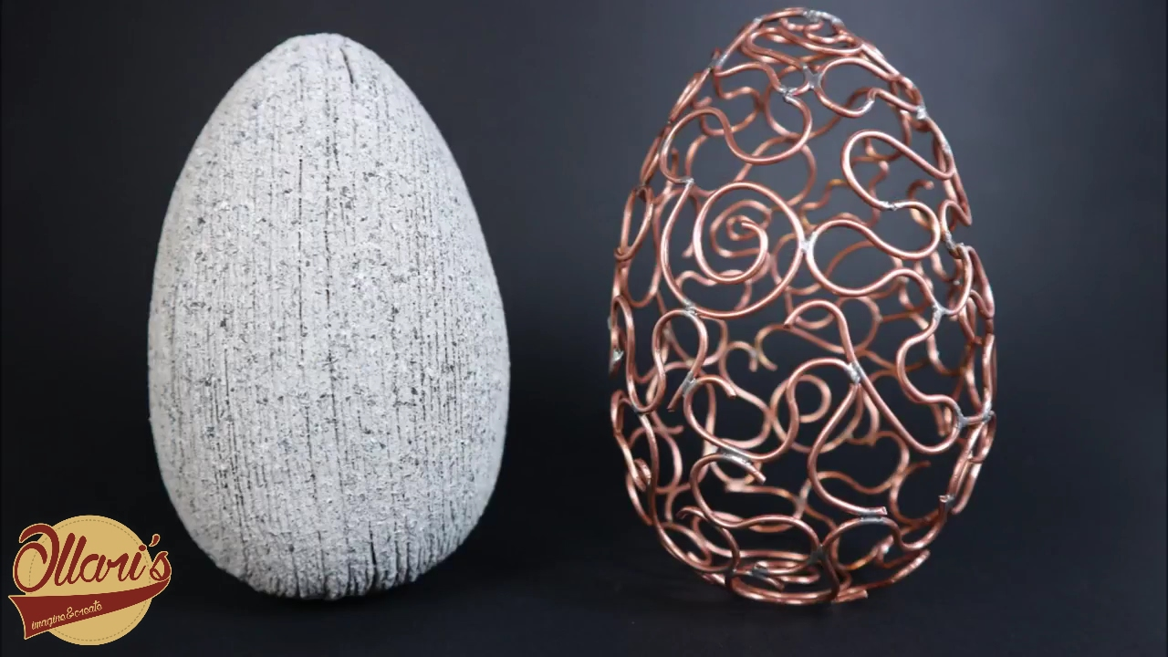 Make an Egg -xtraordinary Copper Wire & Faux Granite Egg - YouTube