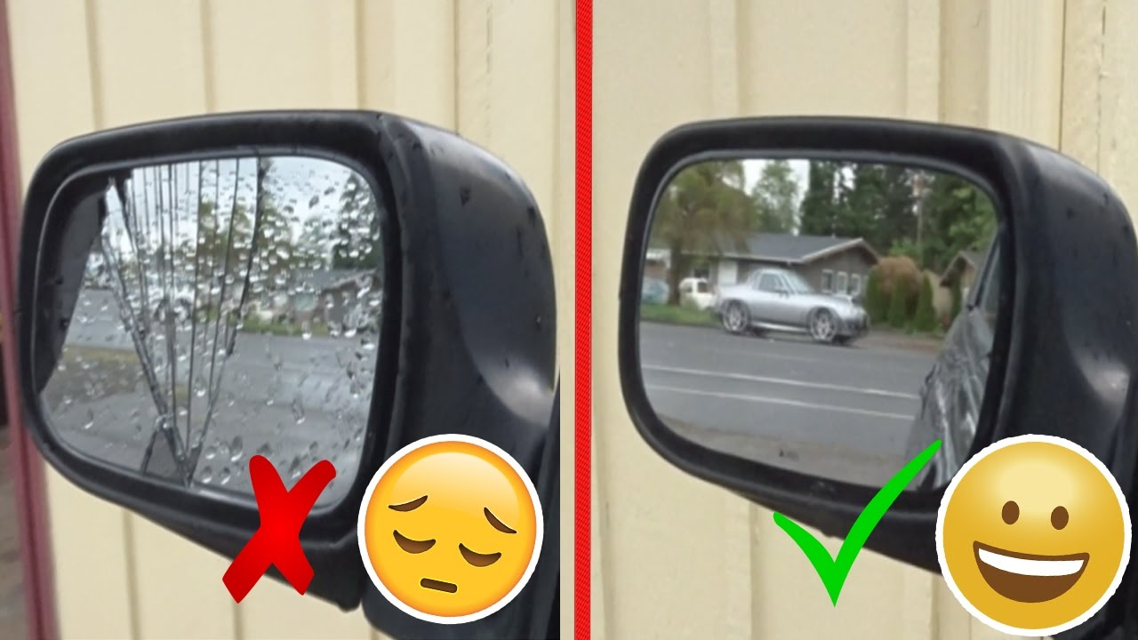 How To Repair And Replace A Broken Side Mirror Glass Subaru Impreza