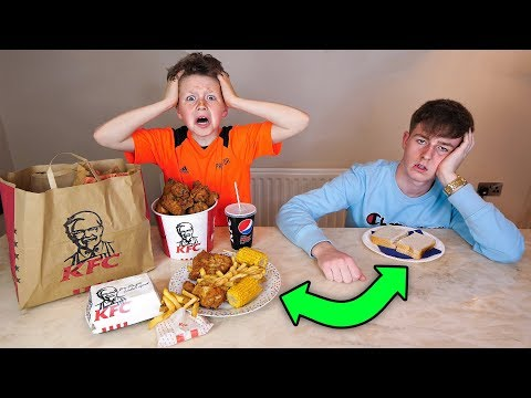I swapped DIETS with my 10 year old LITTLE BROTHER for 24 HOURS!!