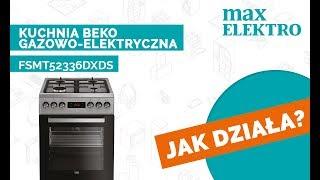 Jak Dziala Kuchnia Beko Fsmt52336dxds Max Elektro Youtube
