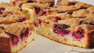 Blackberry Cream Cheese Coffee Cake Recipe Demonstration - Joyofbaking.com