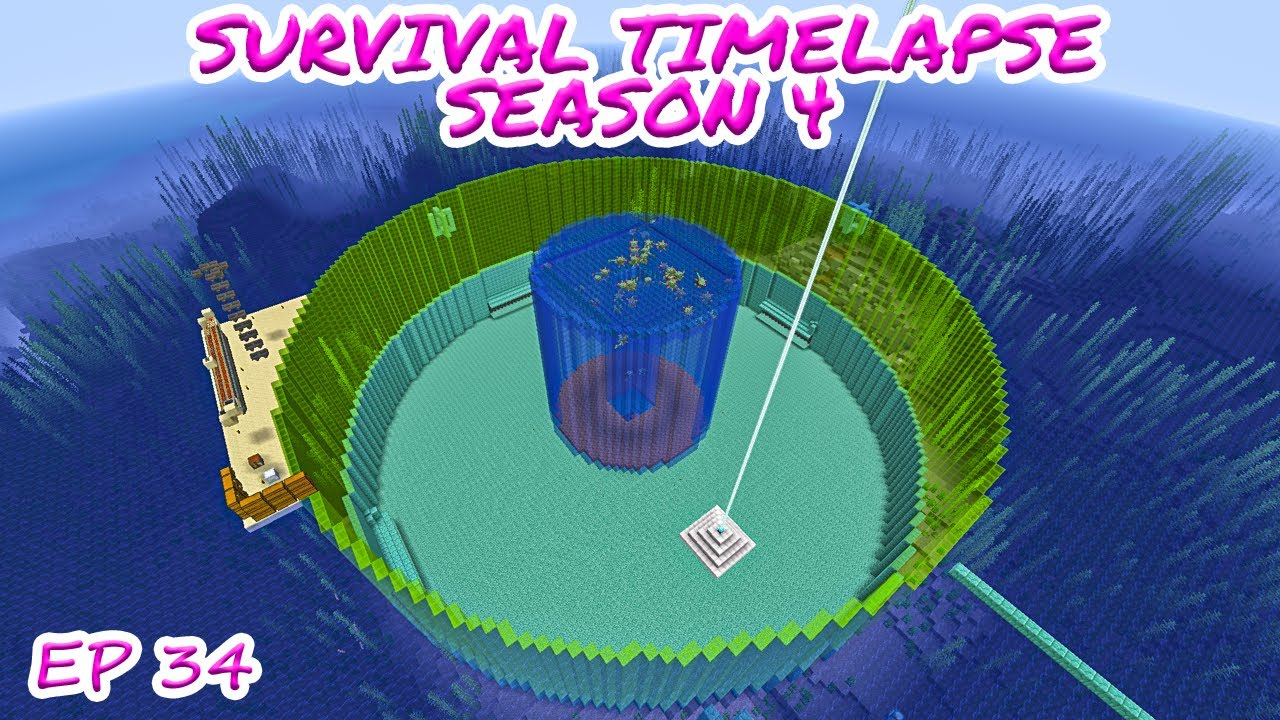 Mega Guardian Farm Minecraft Survival Timelapse Season 4 Episode 34