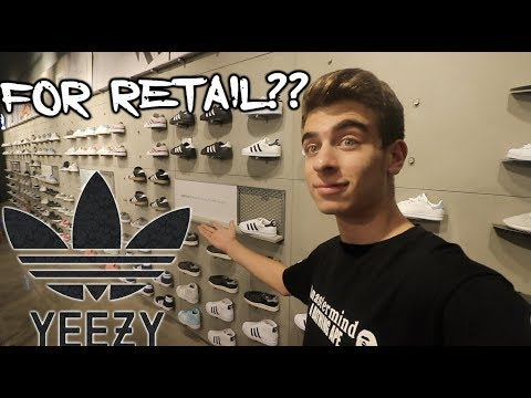 NEW YEEZYS FOR RETAIL at NEW ADIDAS STORE ?!?