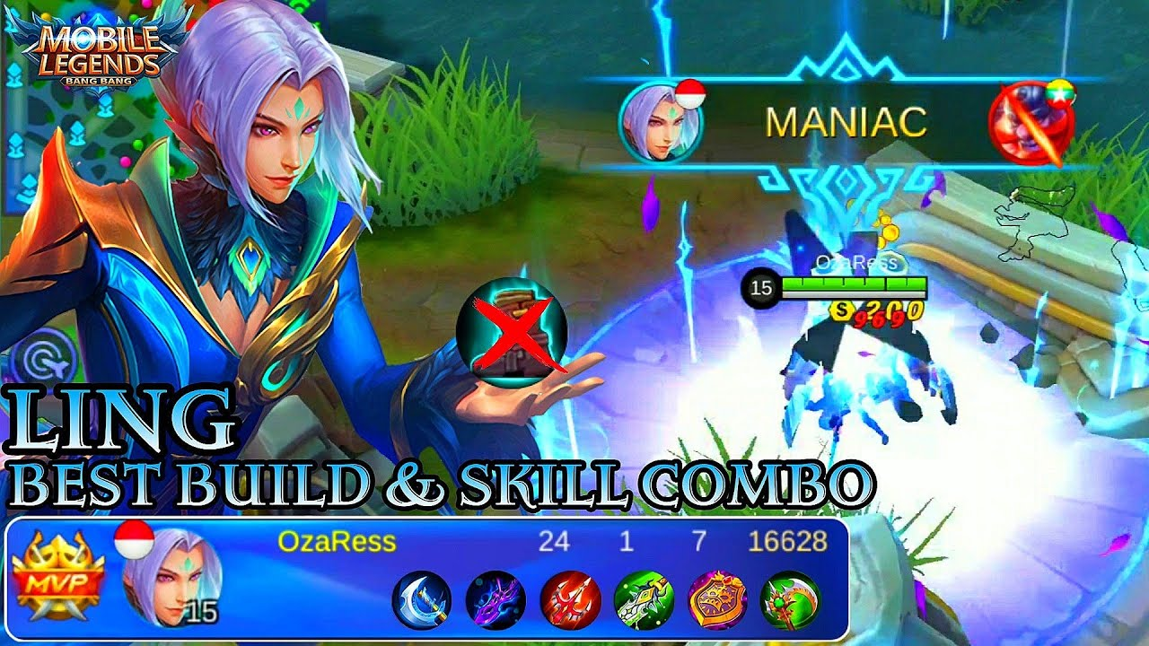 ling best build and skill combo - mobile legends bang bang