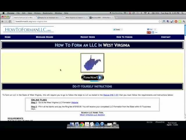 How to Form an LLC in West Virginia: 12 Steps (with Pictures)