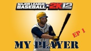 MLB 2K12 My Player - Creation of Right Fielder - Two Sport Athlete!! [EP 1]