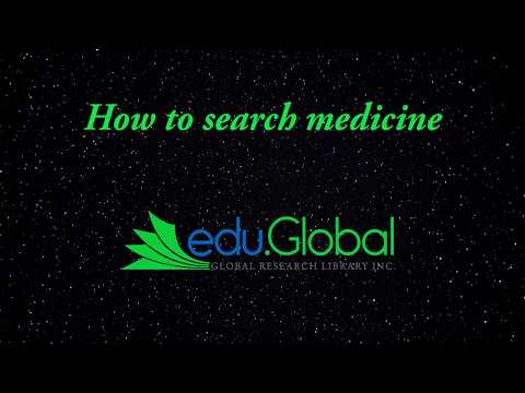 How to search Medicine on https://edu.global