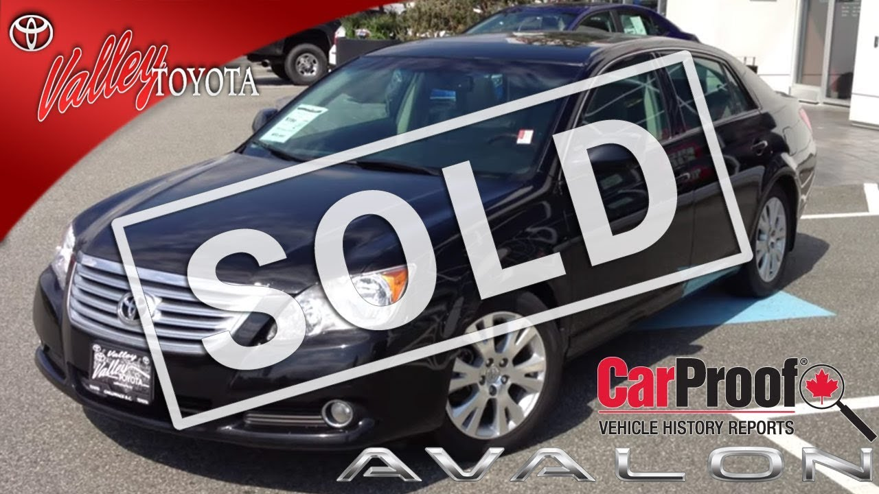 sold 2009 toyota avalon xls preview for sale at valley toyota scion in chilliwack b c. Black Bedroom Furniture Sets. Home Design Ideas