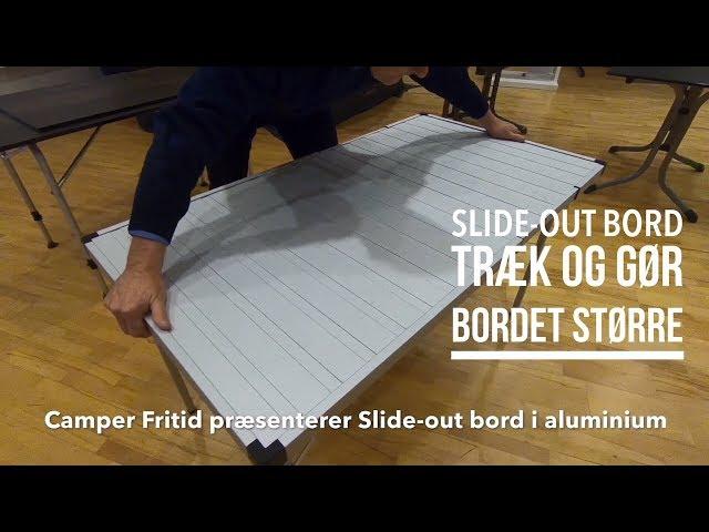 Slide-out bord i alu fra Camper Fritid