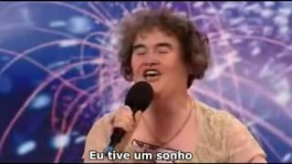 Susan Boyle cantando I dreamed drem da Les Miserables no concurso de talentos britânico Legendado