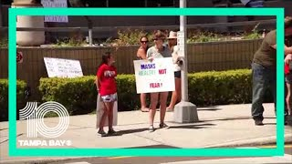 State representative anthony sabatini is holding a rally against face masks at pinellas county courthouse in clearwater. also set to announce a...