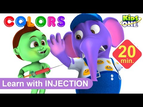 Thumbnail: ANIMALS Gets Injections in the Bottom by BABY HULK | Play & Learn COLORS with Animals for Children