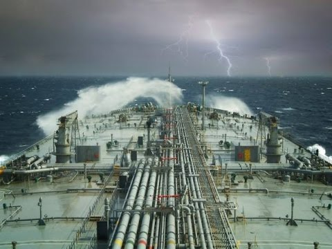 Tanker in storm | Time lapse Video HD
