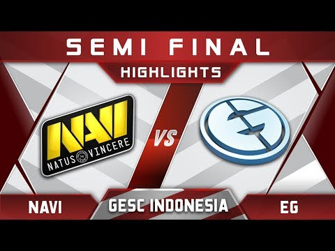 NaVi vs EG Semi Final GESC Indonesia 2018 Minor Highlights Dota 2