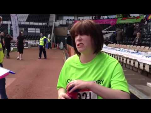 VIDEO: Terminally ill Maxine Smith-Foulds runs the Derby 10k