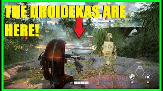 Star Wars Battlefront 2 - HERE ARE OUR DROIDEKAS! | NEW Droideka Gameplay! (Capital Supremacy)
