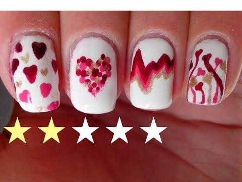 Nail Art Facile : 5 Nail Art Saint-Valentin!💓